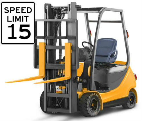 Forklift speed limit in Factory and what are the effective practice to control over speeding