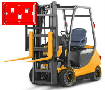 taking of forklift training in Aberdeen, Scotland, UK