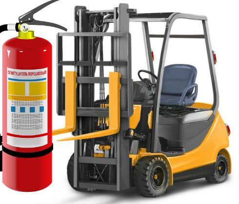 Does OSHA requires fire extinguishers to be fitted on forklifts
