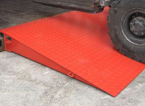 Mytee Products 68 x 86 HD Steel Shipping Container Loading Ramps 14,000 Lbs Capacity